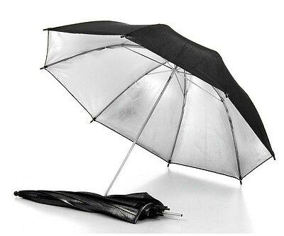 "33"" 83cm photography Pro Studio flash Reflector Black Silver Umbrella for Camera"
