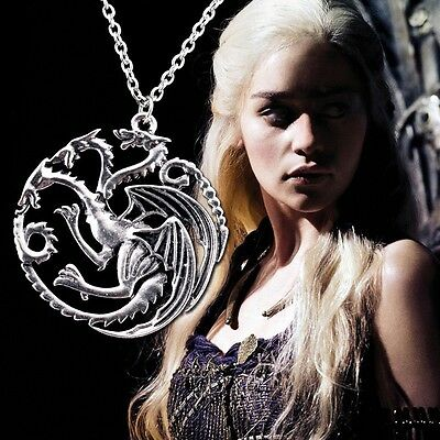 Game of Thrones Targaryen A Song of Ice and Fire Pendant Necklace Modern Anime
