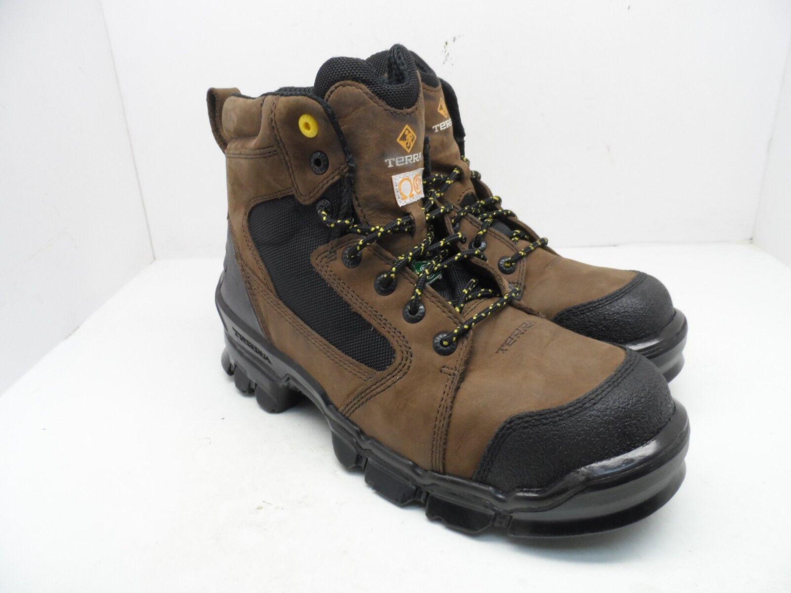 Terra Men's 6  Zephyr Composite Toe Work Boot Brown Size 10.5M