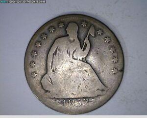 1853-O 50C Arrows & Rays Seated Liberty Half Dollar 25c ( 29s216 )