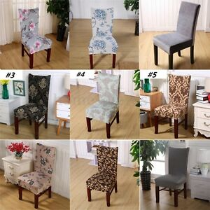 Dining Room Wedding Banquet Chair Covers Party Stretch Spandex Seat Decoration
