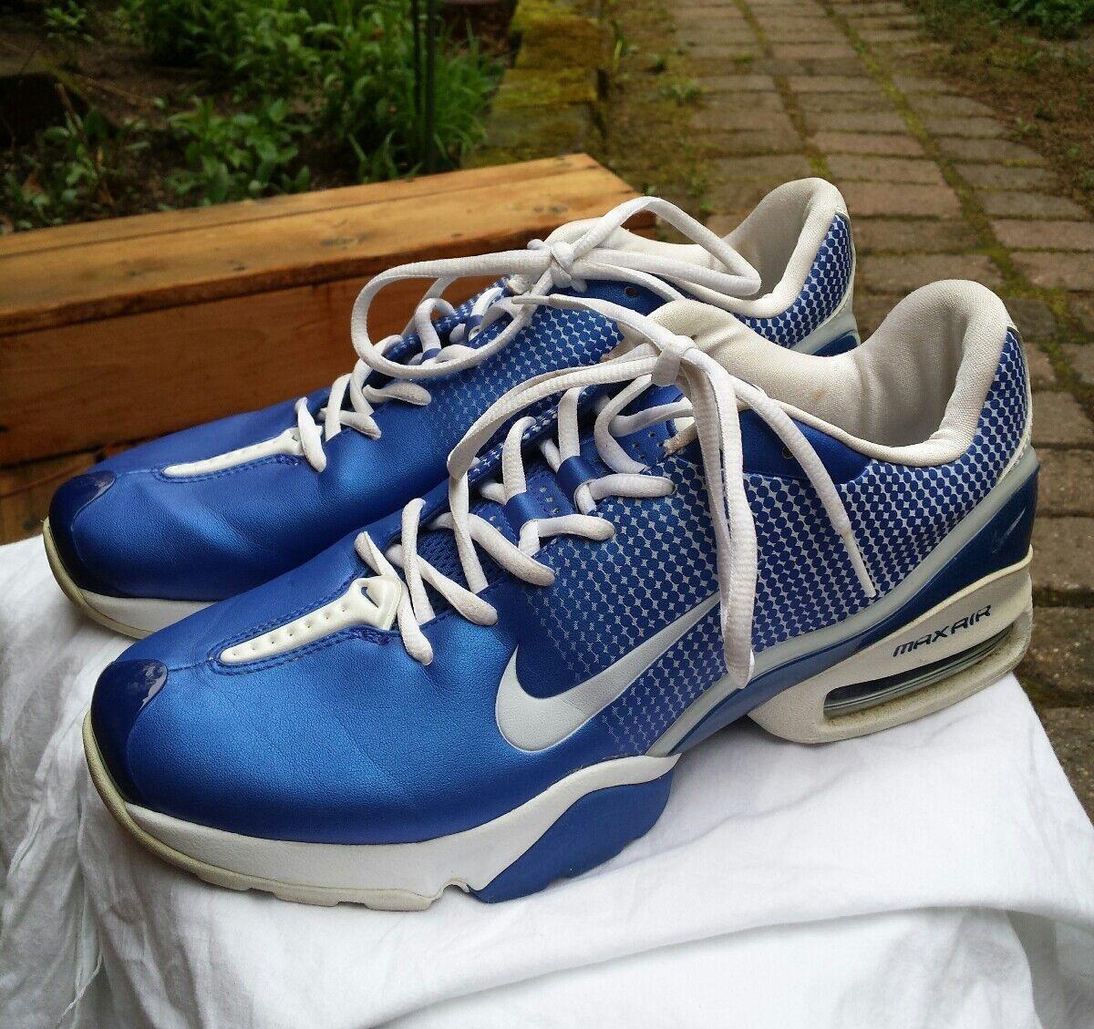 Nike 2018 Air Max Electric Azul Athletic & Blanco Shoes Sports Athletic Azul corriendo nosotros 9.5 El mas popular de zapatos para hombres y mujeres c08f04