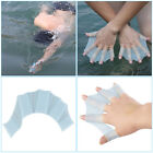 1 Pair Silicone Swimming Hand Fins Flippers Palm Finger Webbed Gloves Paddle QJ
