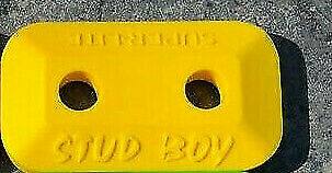 Stud Boy 2461-P1-YEL Super-Lite Double Stud Backer Plate Yellow Qty 24