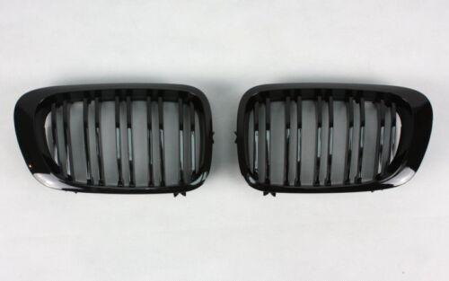 BMW E46 CABRIO COUPE SCHWARZ GLANZ BLACK GLOSSY DOUBLE SLAT GRILL KÜHLERGRILL f