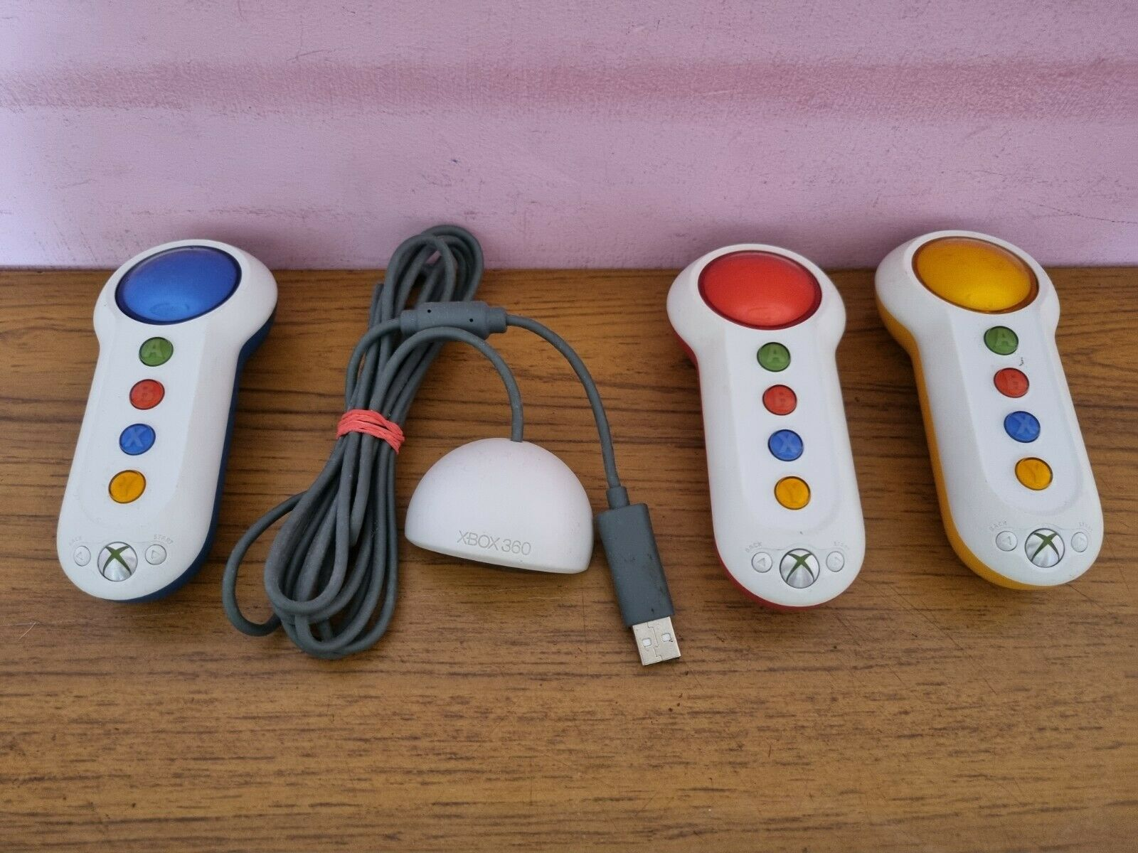 Official Wireless Buzz Controller Buzzers Game Pad for Xbox 360 TESTED