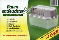 Box + 2 X 1,2 Kg Raumentfeuchter Granulat Vliesbeutel Entfeuchter