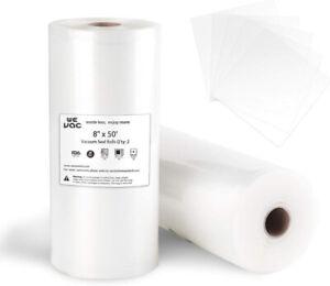 Vacuum-Sealer-Bags-8x50-Rolls-2-pack-for-Food-Saver-Seal-a-Meal-Gamesaver-or