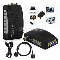 Cctv Camera Dvr Dvd Tv Vga S-video Bnc Input To Vga Output Pc Converter Adapter
