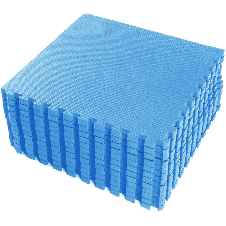 Blue Large Eva Interlocking Soft Foam Exercise Floor Mats