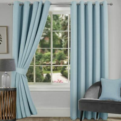 Hugo Woven Blackout Ring Top Curtains