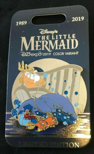 2019 Disney D23 Expo Triton Sebastian Little Mermaid 30th Anniversary Pin LE 300