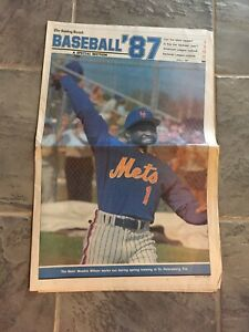 1987-Baseball-Preview-Newspaper-New-York-Mets-Mookie-Wilson