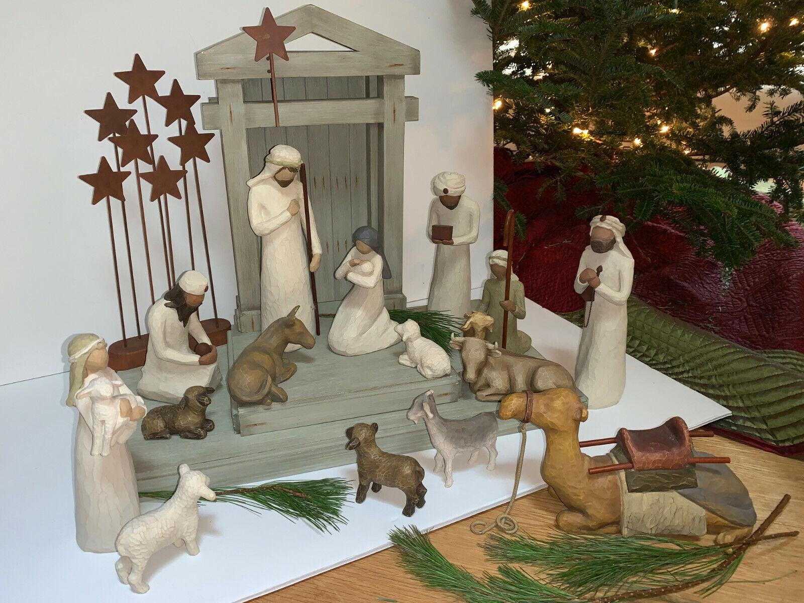 "CHRISTMAS DECORATIONS /""HOLY NIGHT/"" 10-PIECE NATIVITY SET"