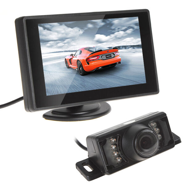 "Car 4.3"" TFT LCD Rear View Monitor and Night Vision Car Reverse Backup Camera"