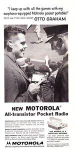 1957-Otto-Graham-photo-Motorola-Transistor-Radio-promo-print-ad