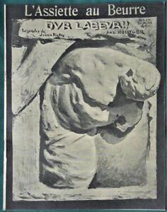 L-039-Assiette-au-Beurre-132-034-Hard-Labor-034-1903-French-Satire-Bernhard-Hoetger-Art