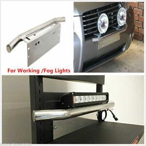 23-Bull-Bar-Front-Bumper-License-Plate-Bracket-Holder-For-Working-Fog-Lamp-amp