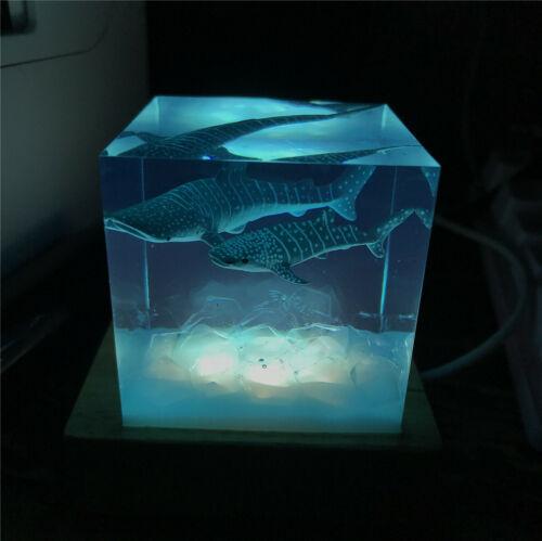 Whale Shark Ocean Animal Model Creative Luminous Decor Collector Kids Toy Gift