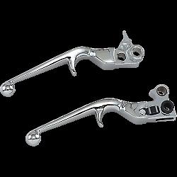 Trigger Hydraulic Brake//Clutch Lever Set Chrome Kuryakyn 1029 For 96-17 Harley