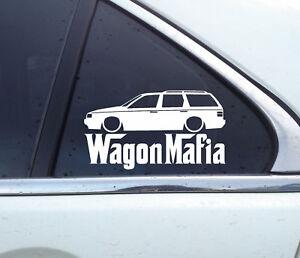 Lowered WAGON MAFIA sticker variant WM022 for VW Passat B3 35i station wagon