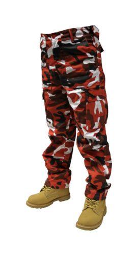 Da Uomo Adulto Camo Tinta Unita Pantaloni Militari Cargo 71.1cm 142cm Corto
