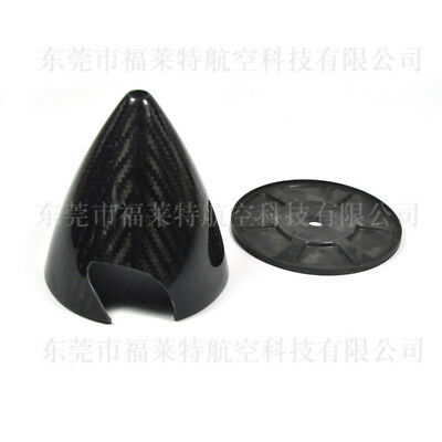 1X  3 inch Carbon Fiber Spinner 2 Blade For Gas RC Airplane ZY01 Black New