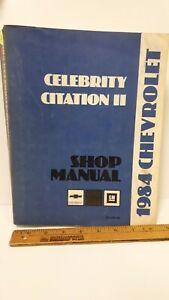 1984-CHEVROLET-Citation-Celebrity-Original-Shop-Manual-Excellent-Cond-039-tn