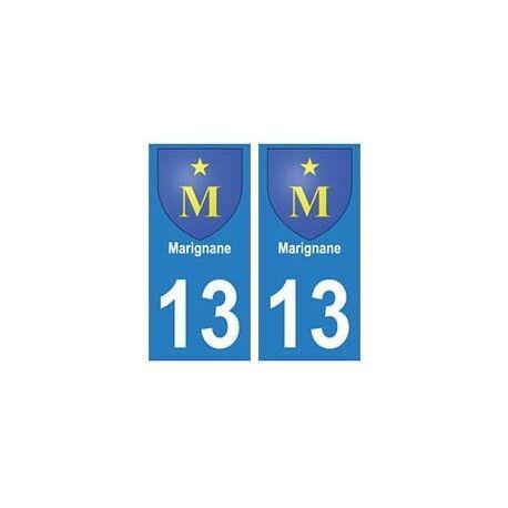 13 Marignane ville autocollant plaque droits