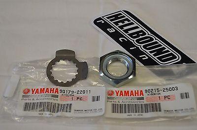NEW OEM Yamaha Raptor 250 atv front sprocket nut and lock washer set 2008-2013