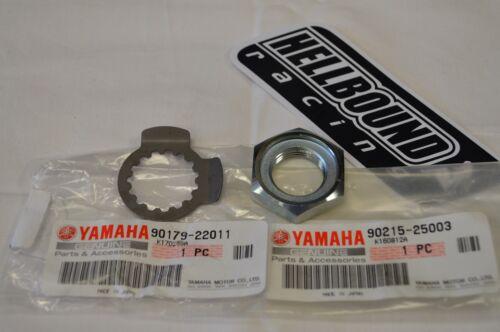 NEW OEM Yamaha Raptor 700 atv front sprocket nut and lock washer set 2006-2017