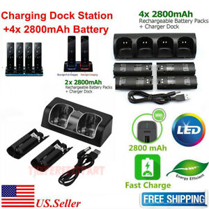 Charger-Charging-Dock-Station-2800mAh-Battery-For-Wii-Wii-U-Remote-Controller