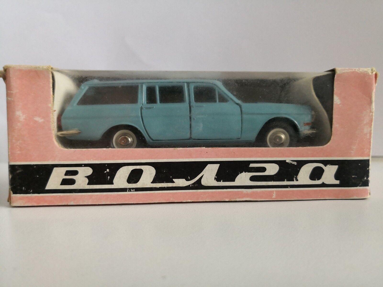 USSR Saratov 1 43 - GAZ 24 02 Volga Car bluee.Soviet.Mint in box .