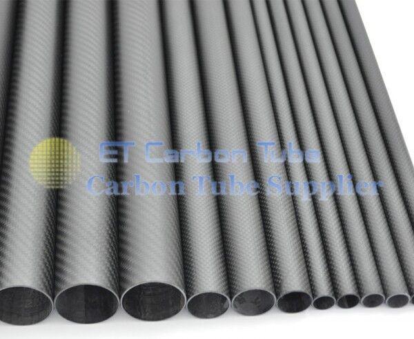 3k Carbon Fiber Tube od 50mm ID x 44mm x lunghezza 500mm ROTOLO avvolto TUBO 3mm Muro