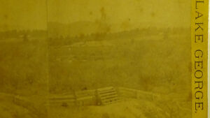 LAKE-GEORGE-NY-1882-TOWN-VIEW-AREAL-SHOT-FARMS-STEREOVIEW-PHOTO-card