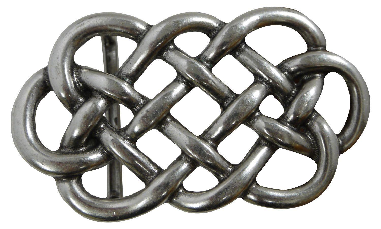 FRONHOFER Belt buckle with intertwined knots, silver women's buckle, 1.5