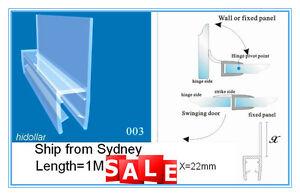 BATHROOM PVC PLASTIC SHOWER SCREEN DOOR WATER SEAL STRIP 10mm 1M WIDER FIN LID
