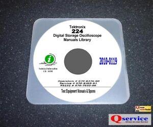 Tektronix 224 oscilloscope service + oprs + rs232 manuals complete.