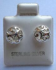 Argento Sterling Filigrana orecchini a perno