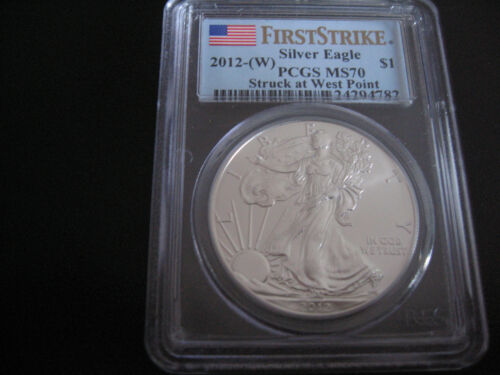 2012-W First Strike -Struck at West Point American Silver Eagle PCGS MS70