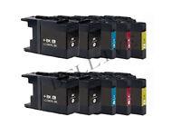 10 CARTUCCE COMPATIBILE PER BROTHER LC1240 LC1280 XL DCP-J925DW J6710DW J6510DW