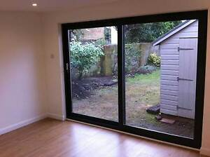 Grey on white sliding patio upvc patio doors 2300mm x 2100mm image is loading grey on white sliding patio upvc patio doors planetlyrics Choice Image