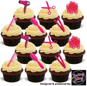 Image Is Loading Novelty Hairdressing Pink Mix 36 Party Pack Edible