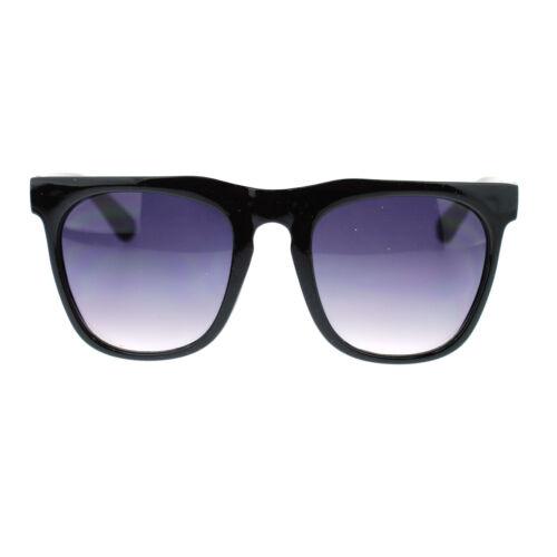 Unisex Retro Vintage Style Horn Rim Thick Brow Rectangular Fashion Sunglasses