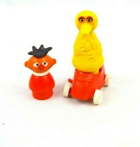 RARE Vintage Fisher Price Sesame Street Muppets Inc. Big Bird, Ernie & Car Lot 3