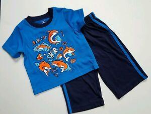 17d81f190 Boys Carters Pajamas Size 12 Month Blue Pjs Spring Jersey Pants ...