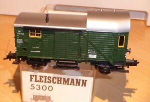 Fleischmann-5300-H0-Pwg-Gueterzugbegleitwagen-der-DB-Ep-3-gebraucht-in-OVP
