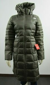 NWT-Womens-The-North-Face-TNF-Metropolis-Parka-Long-Down-Warm-Jacket-Green