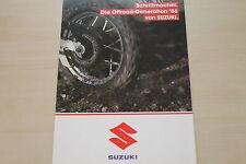 170243) Suzuki DR 250 S TS 250 X DR 600 S R Dakar Prospekt 1986