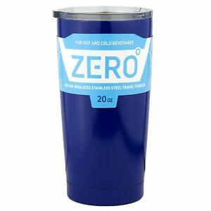 Stainless-Steel-Tumbler-Lid-Insulated-Double-Wall-Travel-Hot-Cold-20-oz-Blue